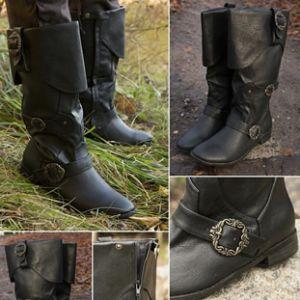 Buckled Calf High Pirate / Highwayman Boots