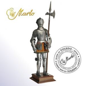 Marto Miniature Royal Knight In Armour With Halberd