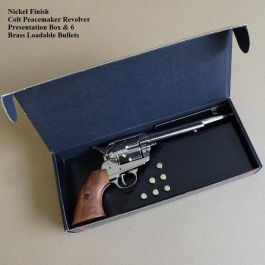 Nickel Finish Single Action Colt Peacemaker Revolver